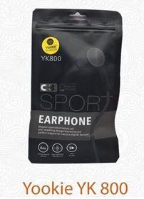 תמונה של אוזניות ספורט מגנטיות YOOKIE YK800 צבע שחור