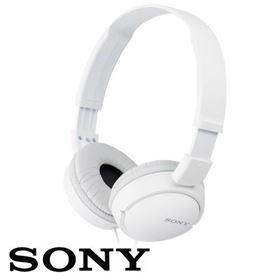 תמונה של אוזניות קשת עם מיקרופון Sony MDR-ZX110 בצבע לבן